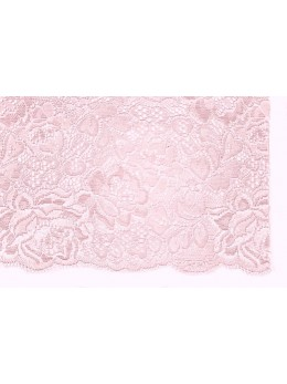 Ruban dentelle coton rose 18cmx3m