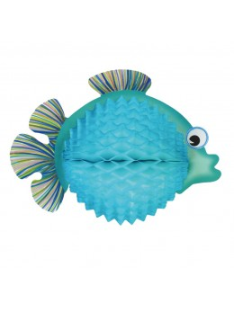 Poisson tropical bleu 33cm