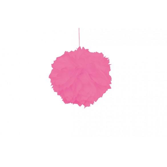 Pompons en papier de soie pas cher rose de 30cm d co - Papier de soie pas cher ...