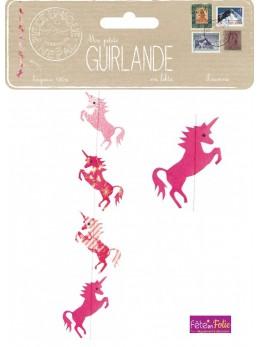 Guirlande lokta licorne pink