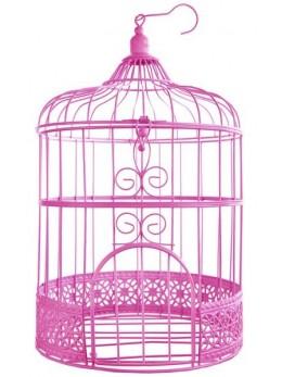 Tirelire cage rose vintage 31cm