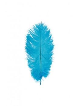 5 Plumes autruche turquoise 20-25cm