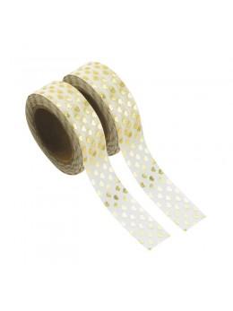 Washi tape blanc ananas or