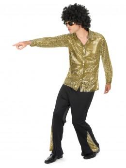 déguisement disco paillettes or