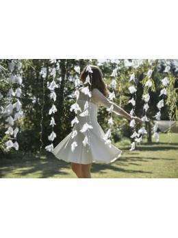 guirlande de plumes blanches
