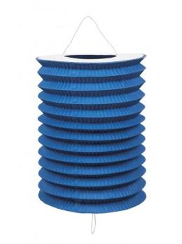 Lampion cylindrique bleu roi 16cm