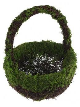 Panier mousse végétale vert