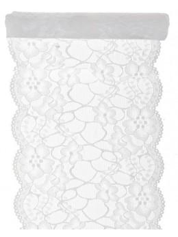 Ruban dentelle coton blanc 18cmx3m