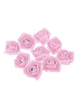 Set 9 roses lin rose pastel 2.8cm