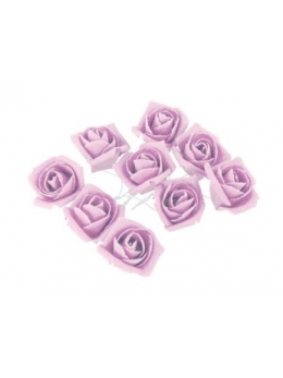 Set 9 roses lin parme 2.8cm