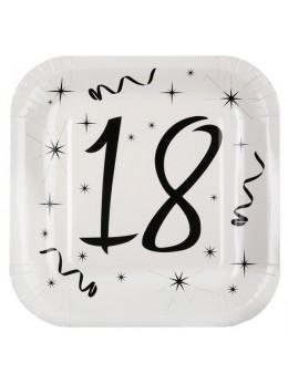 10 assiettes carton anniversaire 18 ans