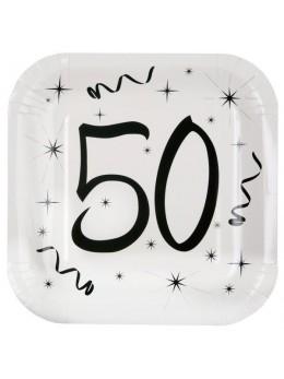 10 assiettes carton anniversaire 50 ans