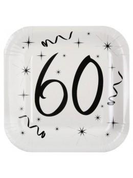 10 assiettes carton anniversaire 60 ans