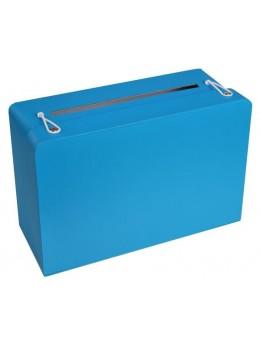 Urne tirelire valise turquoise