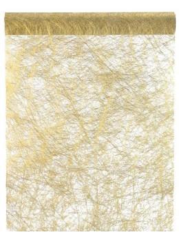 chemin de table intissé or