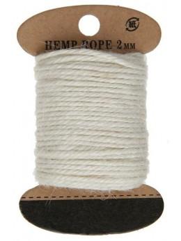 Cordelette coton ivoire 10m