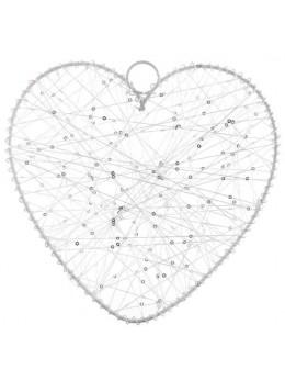 Déco coeur en fil