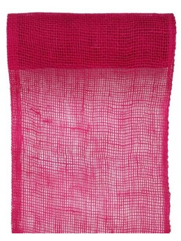 Chemin de table jute fuchsia