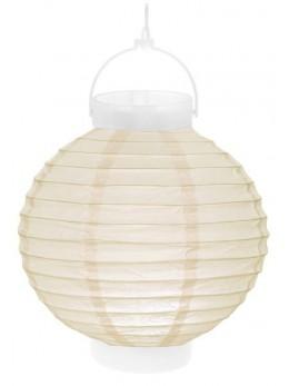 Lampion lumineux ivoire