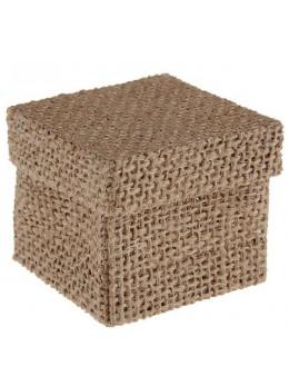 4 boites carrées naturelles