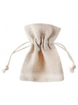 6 pochons sachet coton naturel
