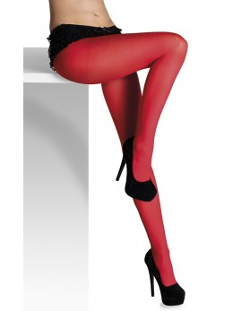 collants opaque rouge