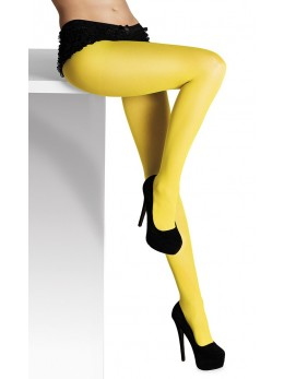 collant opaque jaune