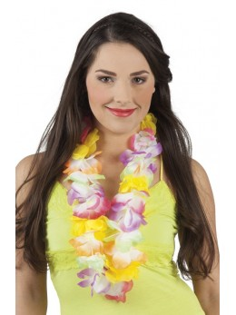 collier hawai fleurs