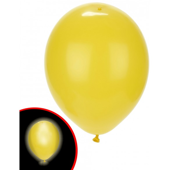 5 ballons jaune avec Led