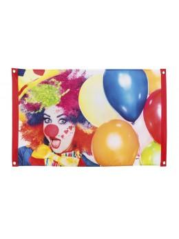Drapeau tissu motif clown