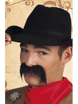 Moustache cowboy noir
