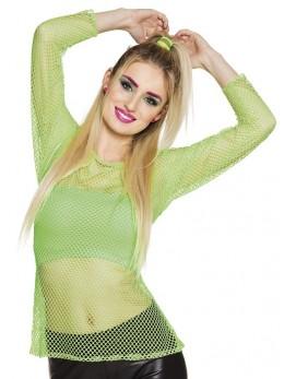 Tee shirt résille vert fluo