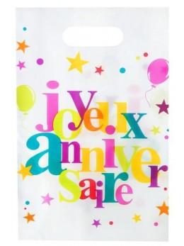 10 Sacs cadeaux Joyeux anniversaire