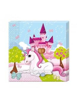 serviettes papier licorne