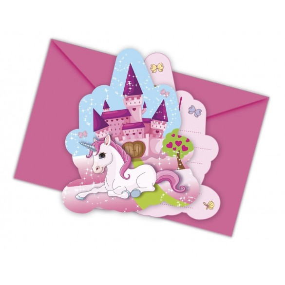 6 Invitations Licorne