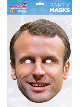 Masque carton Emmanuel Macron