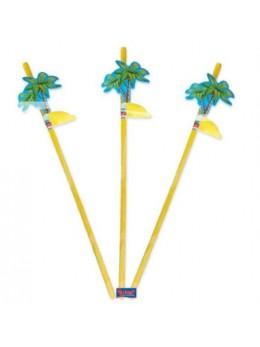 pailles motif palmier