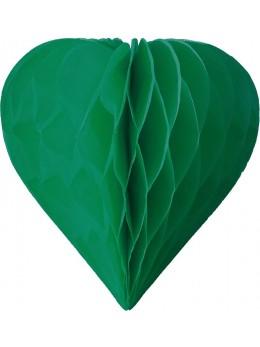 3 mini coeur papier alvéolés 8cm Vert