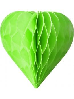 3 mini coeur papier alvéolés 8cm Vert pomme