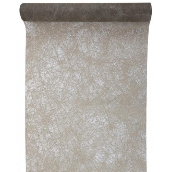 Chemin de table intissé luxe gris foncé 10m