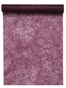 Chemin de table fibre prune