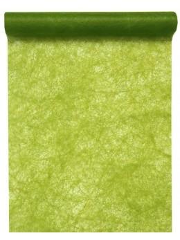 Chemin de table fibre vert kiwi