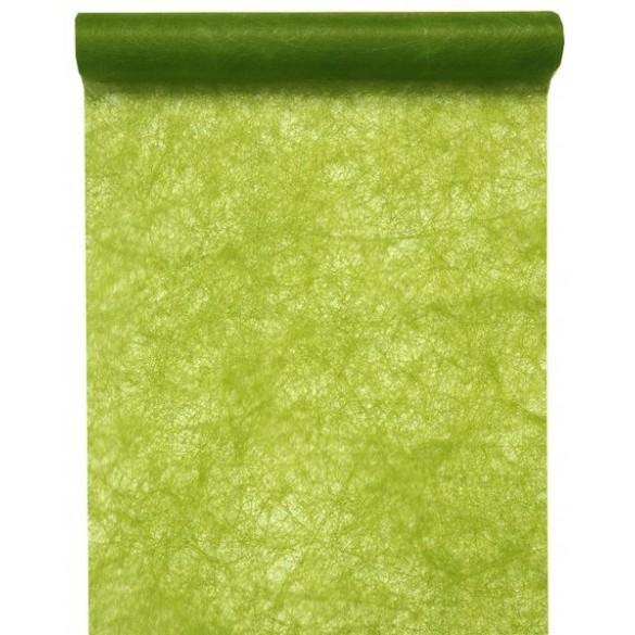 Chemin de table intissé luxe vert kiwi 10m