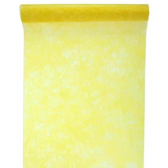 Chemin de table intissé luxe jaune 10m