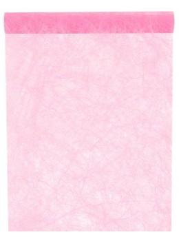 Chemin de table fibre rose