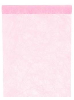 chemin de table intissé luxe rose pastel