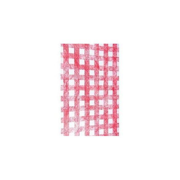 Chemin de table intissé luxe carreau rouge et blanc