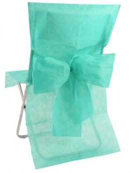 10 Housses de chaises vert menthe avec noeuds