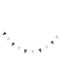Guirlande fanions lin 3m