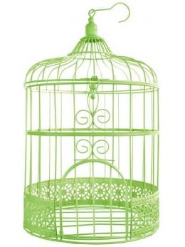 Tirelire cage rose verte 31cm